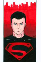 Superboy Headshot Colored by RichBernatovech