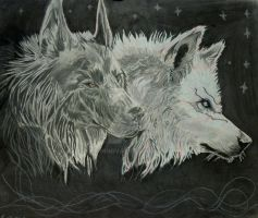 Spirit Wolves by poisonnova