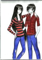 Marceline and Marshall Lee by panxi-marceline-vamp