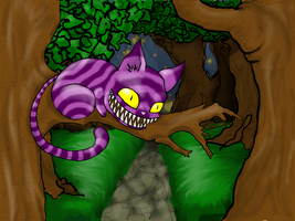 Cheshire Cat In Wonderland by cactuarZrule