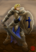 Duanne, The Paladin of Faith by rithgroove