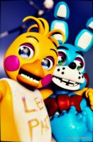 REQUEST: Toy Chica and Toy Bonnie by NexusDrakeson