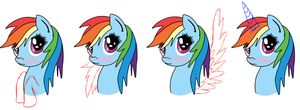 Rainbow Blush (commissions open) by Winree