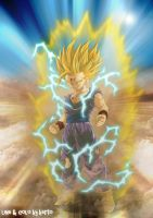 dragon ball Z son gohan by ced by diabolumberto
