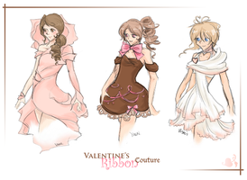 Valentine's Ribbon Collection by Flurryfox