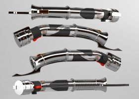 3d - Count Dooku Lightsaber by Araiel