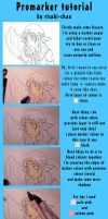 promarkers tutorial- mermaid by risaki-chan