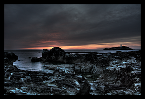 Sunset At Godrevy 3 by Enderion