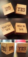 what she said... dice by Wookie92