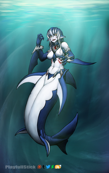 MerShark Swimu swim swim by PlayfullStick