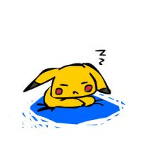 pikachu wakes up by oober-zombie