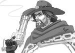 Overwatch - McCree WIP sketch by TricksyPixel
