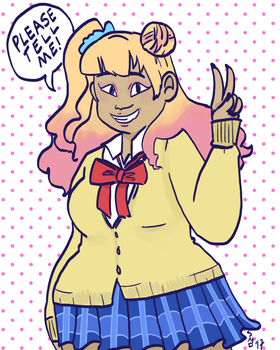 Please Tell Me, Galko-chan! by wandabecile