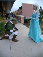 Knighting Link by NostalchicksCosplay