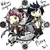 Natsu and Gray by Peng-Cubi
