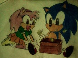 Sonamy youg with butterfly by Spikinette