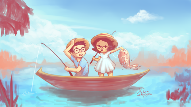 Gone Fishing by oshRED