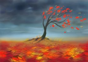 autumn speedpainting by Okha