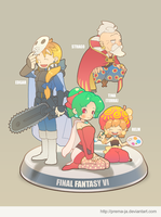 FF6 - FRIENDS set3 by prema-ja