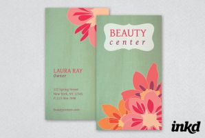Floral Beauty Business Card by inkddesign