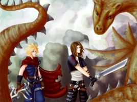 """-KH- """"After you, Leon."""" by Kingdom-Hearts-Yaoi"""