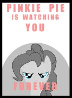 Pinkie pie Was Watching you Forever by goina