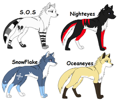 Female Wolf Breedables 2 by Spyro-Adopts