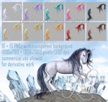 horse mane and tail HAIR STOCK by Trisste-stocks