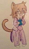 Neko Leo holding Holy Knight by Silverfoxx18