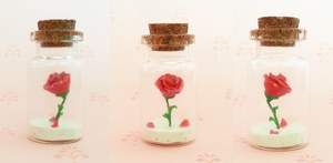 Polymer Clay : Beauty and the Beast Rose by CraftCandies