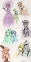 Hey another Sketch Dump by RosariaBec