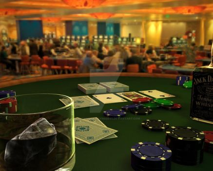 Poker table - redone by psychoticfairygodess