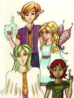 Four Elves by dreamling