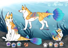 Nereas/ fish Canine Adoptable/ AUCTION (CLOSED) by Belliko-art