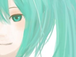 Miku- Paint by lizardsinrainforest