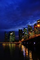 Singapore City Lights by DrakeXaos