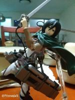 Mikasa Figma attacks! by PhineasFan1