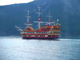 Pirate Ship-Hakone Japan by chaobreeder16