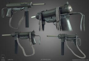 M3 Grease Gun low poly by Bawarner