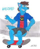 Wolzard, the skater wolf. by AnthoFur