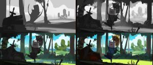 Step by step for adventure time by eWKn