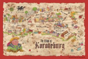Map of Koroneburg  Color by tursiart