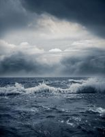 Stormy sea by lilydust