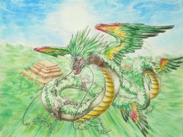 Quetzalcoatl - Conquer The Sky by monochromera