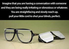 blinds glasses by gamerma