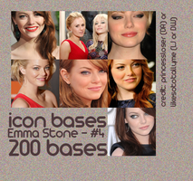 Emma Stone Bases - Set 4 by princessloser