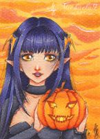 47. ACEO - Happy Halloween by Michaela9