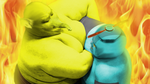 Drowzee vs. Omochao by windknife9