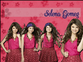 Selena Gomez Pink and Lace Wallpaper by iluvlouis