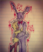 Bonnie Loves His Chica by creepy-lil-girl